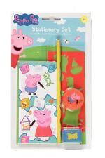 Official Peppa Pig 5 Piece Stationery Set School Pencil Ruler Eraser