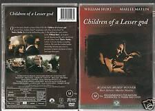 CHILDREN OF A LESSER GOD WILLIAM HURT MARLEE MATLIN DVD