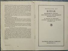 1937 OCTOBER  OUTLINE OF KODAK RETIREMENT ANNUITY, LIFE INSURANCE AND DISABILITY