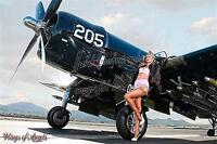 Wings of Angels Malak Pin Up Print Ashten WWII F4U-4 Corsair