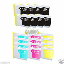 20+ Pack LC51 NON-OEM Ink Cartridge for Brother Printer MFC-3360C MFC-240C LC51