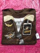Disney Parks Soarin Around The World Mickey Mouse Aviator Adult L T-Shirt