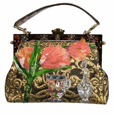 Dolce & Gabbana Multicolor Vanda Floral Embroidered Bag Vas1248