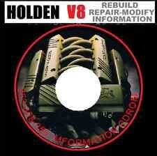 HOLDEN V8 304-308-355- VH VK VL VN VP VR Workshop Rebuild Manual CDROM