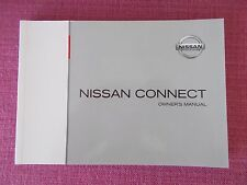 NISSAN CONNECT NAVIGATION SAT NAV & AUDIO HANDBOOK MICRA NOTE QASHQAI (CJL 93+)