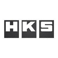 HKS CAR DECAL STICKER 200mm CARBON FIBRE Sticker no background