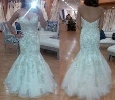 3d1d33859f4 New White Ivory Mermaid Wedding Dress Bridal Gown Custom Size 6-8-10-