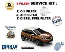 Para Renault Captur 1.5 dCi K9K 2013 -- > NUEVO ACEITE Aire Combustible Kit De Servicio De Filtro (3)