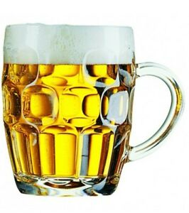 Traditional Dimpled Beer Ale Tankard Britannia PINT Glass CE Marked