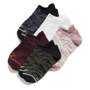 Old Navy Women's Active ~ 5 Pack Lightweight Athletic Ankle Socks ~ Heel Guard