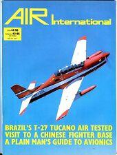 Air International Magazine January 1983 T-27 Tucano EX No ML 112316jhe
