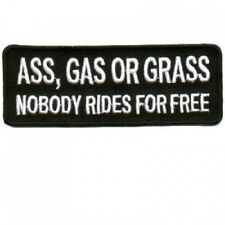 ASS GAS OR GRASS Embroidered Jacket Vest Patch