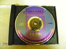 """COREL GALLERY"" 10,000 Clipart Images CD-ROM"