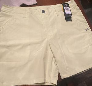 Under Armour Men's Fish Hunter Shorts Neon Yellow Size 38 1351468-730