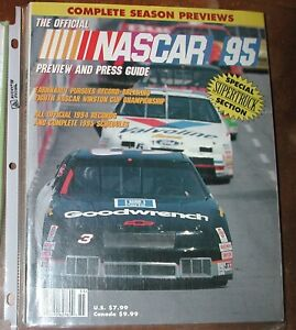 NASCAR YEARBOOK PREVIEW AND PRESS GUIDE 1995   PB