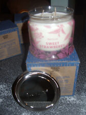 Partylite SWEET STRAWBERRY SIGNATURE 3-wick JAR CANDLE  BRAND NEW FALL 2016