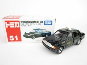 Takara Tomy Tomica #51 Toyota Crown Comfort Japan Taxi Sca. 1/63 Diecast Toy Car