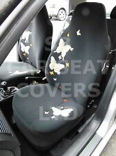 i - TO FIT A FIAT TIPO HATCHBACK CAR, S/ COVERS, HIGH BACK, ORANGE BUTTERFLY