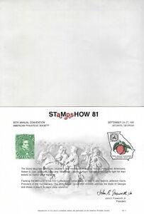 UNITED STATES - STAMPSHOW '81 PHILATELIC EXHIBITION SOUVENIR CARD & ENVELOPPE