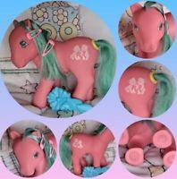 ~Hasbro~ G1 My Little Pony Happy Tails TOSSELS Earth Pony Ribbon, Hairbrush