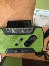 RUNNINGSNAIL Solar Crank Weather RADIO, AM/FM Flashlight with Reading Lamp, NEW
