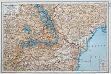 EASTERN FRONT SOUTH WW1 1914-18 MAP c.1920