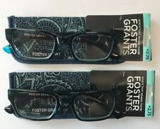 LOT OF 2 - Reading Glasses Foster Grant Mira Blue w/ Case +2.75 NEW