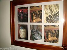 WINE BOTTLES (VINTAGE and DUSTY) -  REPRODUCTION PICTURES  IN A FRAME + MATTE