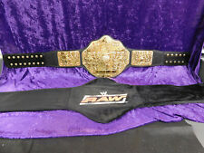 WCW BIG GOLD BELT Championship Belt  Ric Flair WWE Raw With Bag Free Shipping!!!