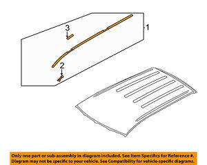 MITSUBISHI OEM 11-15 Outlander Sport-Roof Molding Trim Right 7400A296