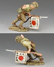 KING AND COUNTRY WW2 Japanese Charging Flagbearer JN30 JN030