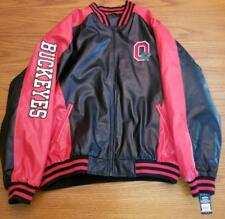 MENS XL STEVE & BARRY'S  OHIO STATE BUCKEYES VARSITY JACKET EMBROIDERED NEW W/TA