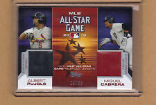 MIGUEL CABRERA & ALBERT PUJOLS dual jersey 2010 Topps 19/25 only 25 made!!!
