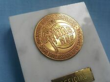 RARE Official 1968 Olympic Basketball Association Of Singapore Desk Medal