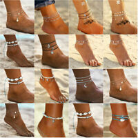 BOHO Women Crystal Anklet Ankle Bracelet Barefoot Sandal Beach Foot Jewelry