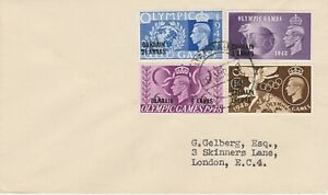 Olympic Games 1948  BAHRAIN  set on cover aug 1948 to London