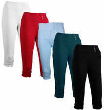 Cotton High Stretch Trousers for Women