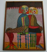 VINTAGE PAINTING 2 MYSTIC WOMEN WOMAN MODEL ABSTRACT EXPRESSIONISM MODERNISM