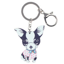 Acrylic Animal Chihuahuas Dog KeyChain Ring For Women Girl Wallet Holder Jewelry