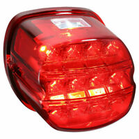 Red Lens LED Brake Tail Light For Harley Road Glide Sportster Dyna Motorcycle