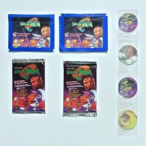 🎬1996 Upper Deck Space Jam Hobby Retail Pack Lot Factory Sealed + Sticker Packs