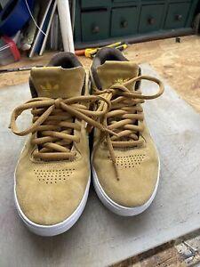 Adidas Tyshawn Jones Shoes Tan Suede Men's 9.5