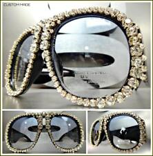 Oversized Exaggerated Retro Style SUN GLASSES Super Thick XL Unique Bling Frame