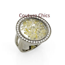 Gemstone Loose Rough Pave Diamond Shaker Ring .925 Sterling Silver Fine Jewelry