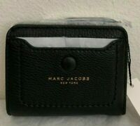 NWT Marc Jacobs Empire City Mini Compact Leather Coin Wallet $145 Original Packa