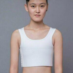 Women Short Breast Binder Breathable Buckle Lesbian Vest Tops Plus Size