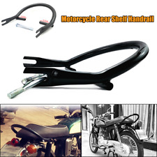 Motorcycle Scooter Refit Black Pipe Rear Shelf Passenger Tail Handrail Luggage