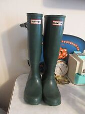 Vintage Hunter Tall Green Boots Wellies Women's US size 5 made in Scotland