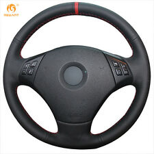 DIY Leather Steering Wheel Cover for BMW E90 320 318i 320i 325i 330i X1 #0176