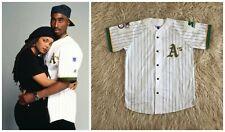 Vintage 90s OAKLAND ATHLETICS jersey 2pac - Pinstriped Tupac Retro Hip Hop -sz M